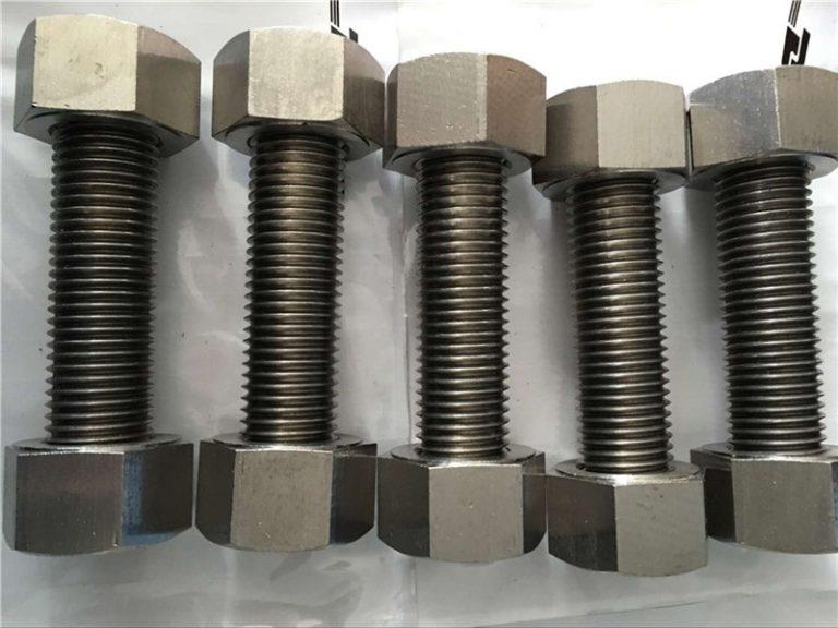 nickel alloy 400 en2.4360 ganap na i-thread ang rod na may mga fastener ng nuts