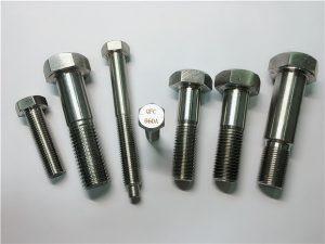 No.25-Incoloy a286 hex bolts 1.4980 a286 fasteners gh2132 hindi kinakalawang na asero hardware machine turnilyo