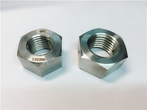 No.76 Duplex 2205 F53 1.4410 S32750 hindi kinakalawang na bakal na fastener ng mabigat na hex nut