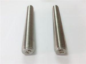 No.77 Duplex 2205 S32205 hindi kinakalawang na mga fastener ng bakal na DIN975 DIN976 na may sinulid na rods F51