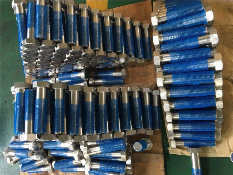 sus 304l en1.4306 ss fastener hex bolts iso4014 kalahating thread