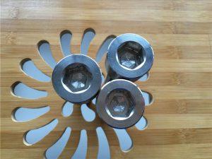 mataas na kalidad na ASEM hex socket titanium gr2 screw / bolt / nut / washer /