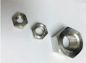 Duplex 2205 / F55 / 1.4501 / S32760 hindi kinakalawang na asero na fastener ng mabigat na hex nut M20